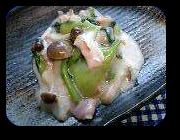 「チンゲンサイのクリーム煮」の画像
