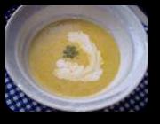 「かぼちゃのポタージュスープ」の画像