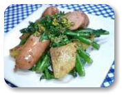 「菜の花ジャーマンポテト風」の画像