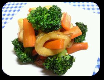 「彩り野菜とちくわのピリ辛炒め」の画像