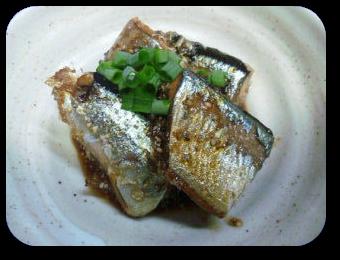 「さんまのごま味噌ピリ辛煮」の画像