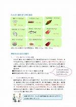 「たんぱく質と透析食の注意点」のPDF画像