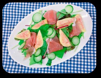 「いちじくと季節野菜のサラダ」の画像